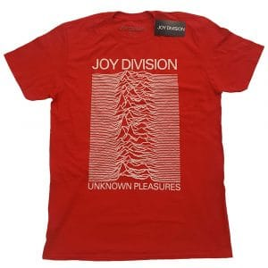 Joy Division Mens T-Shirt: Unknown Pleasures White On Red (XX-Large)