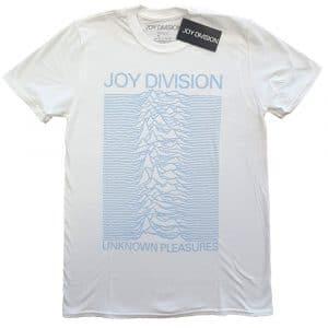 Joy Division Mens T-Shirt: Unknown Pleasures Blue on White (XX-Large)