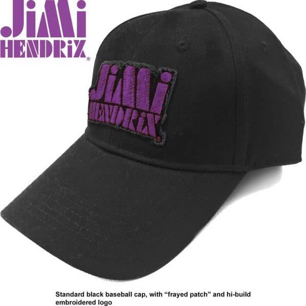 Jimi Hendrix Baseball Cap: Purple Stencil Logo