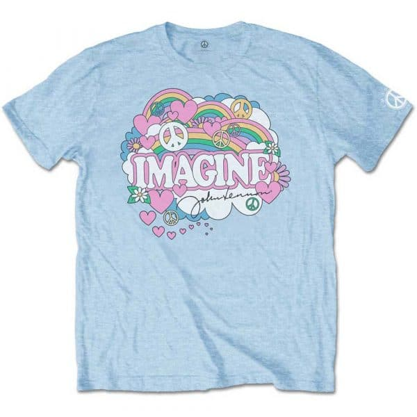 John Lennon Mens T-Shirt: Rainbows