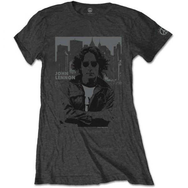 John Lennon Ladies T-Shirt: Skyline (XX-Large)
