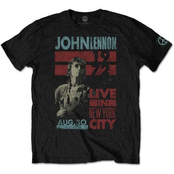 John Lennon Mens T-Shirt: Live in NYC (XX-Large)