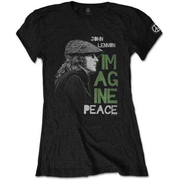 John Lennon Ladies T-Shirt: Imagine Peace (XX-Large)