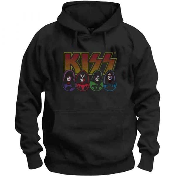 KISS Mens Pullover Hoodie: Logo