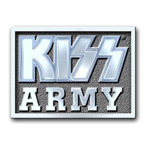 KISS Pin Badge: Army Block