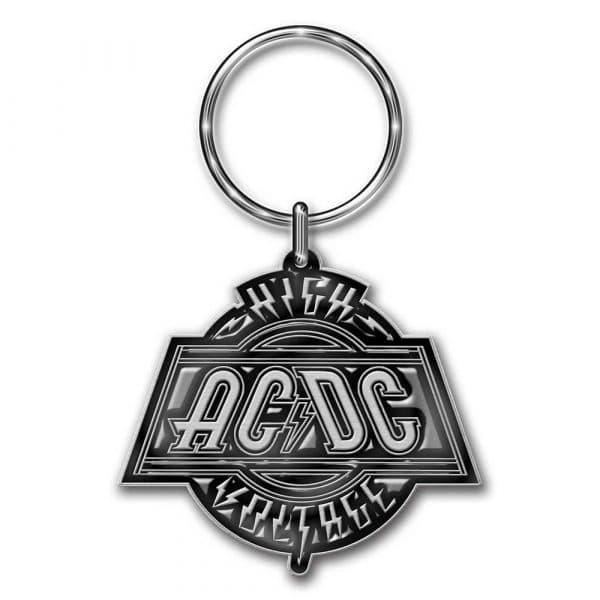 AC/DC Keyring: High Voltage (Die-cast Relief)