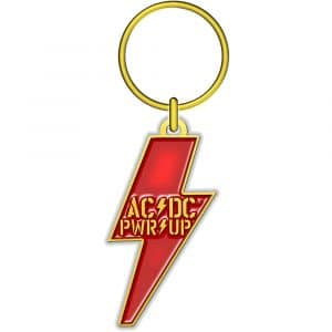AC/DC Keyring: PWR-UP (Die-cast Relief)