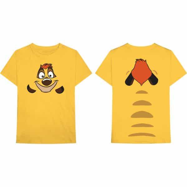 Disney Mens T-Shirt: Lion King Timon (Back Print) (XX-Large)