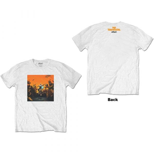 Logic Mens T-Shirt: No Pressure (Back Print) (XX-Large)