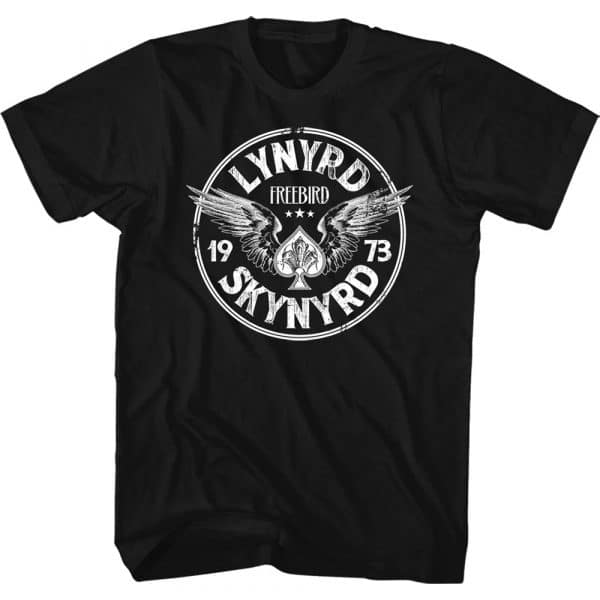Lynyrd Skynyrd Mens T-Shirt: Freebird '73 Wings (XX-Large)