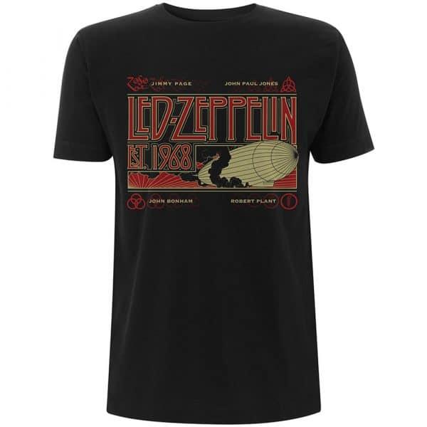 Led Zeppelin Mens T-Shirt: Zeppelin & Smoke (XX-Large)