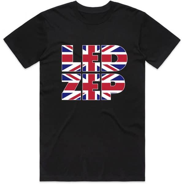Led Zeppelin Mens T-Shirt: Union Jack Type (XX-Large)