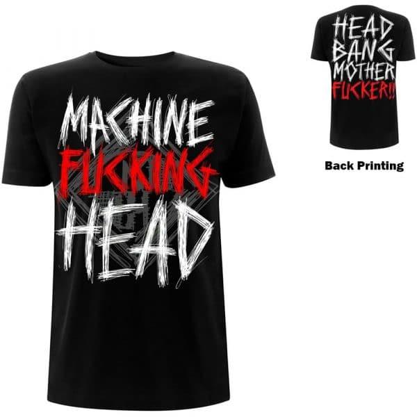 Machine Head Mens T-Shirt: Bang Your Head (Back Print) (XX-Large)