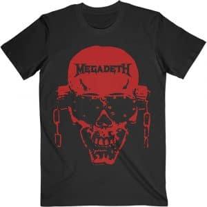 Megadeth Mens T-Shirt: Vic Hi-Contrast Red (XX-Large)