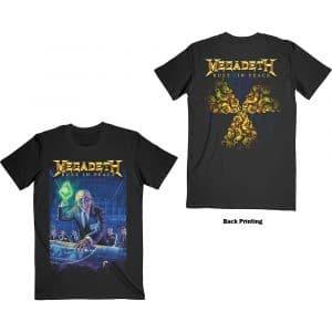 Megadeth Mens T-Shirt: Rust In Peace 30th Anniversary (Back Print) (XX-Large)