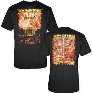 Megadeth Mens T-Shirt: China Whitehouse (Back Print) (XX-Large)