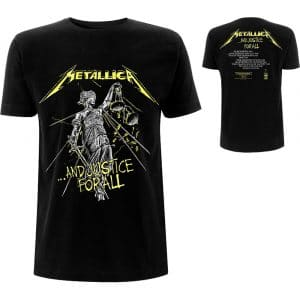 Metallica Mens T-Shirt: And Justice For All Tracks (Back Print) (XX-Large)