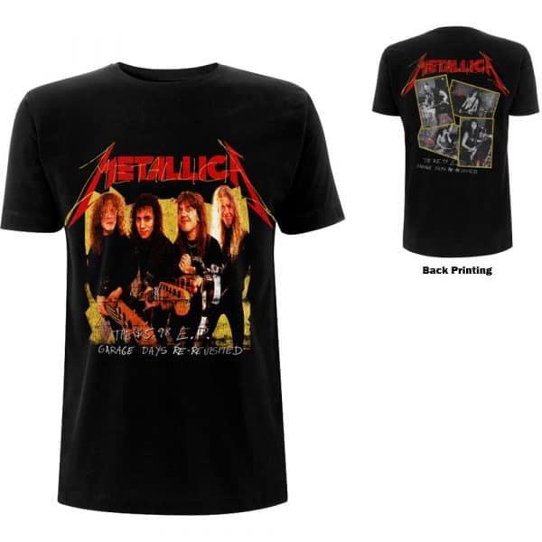 Metallica Mens T-Shirt: Garage Photo Yellow (Back Print) (XX-Large)