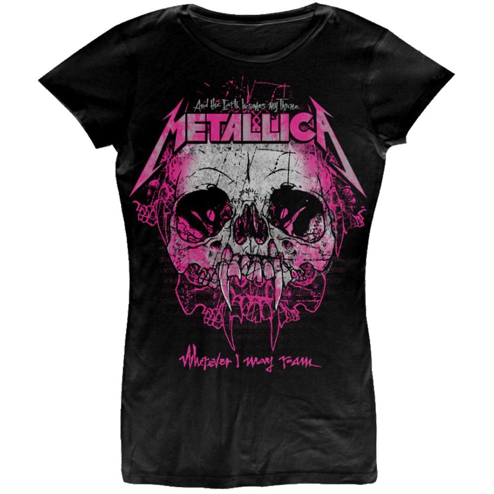 Metallica Ladies T-Shirt: Wherever I May Roam (Medium)