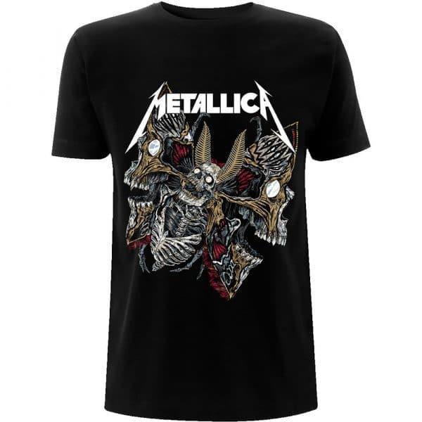 Metallica Mens T-Shirt: Skull Moth (XX-Large)