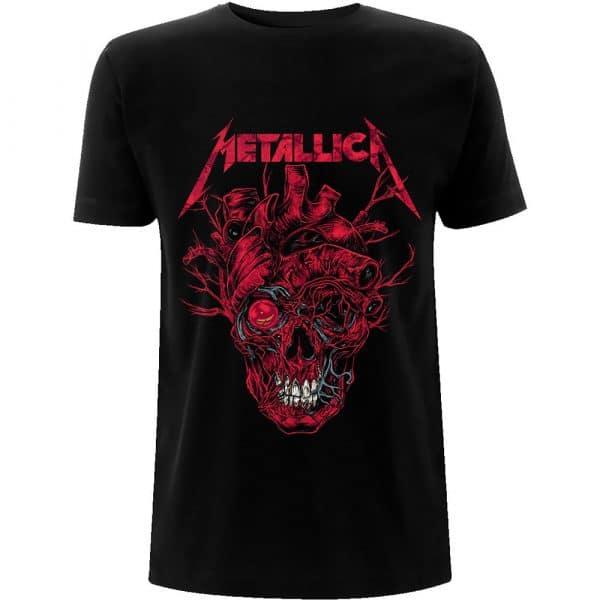 Metallica Mens T-Shirt: Heart Skull (XX-Large)