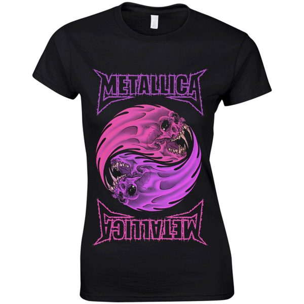 Metallica Ladies T-Shirt: Yin Yang Purple (XX-Large)