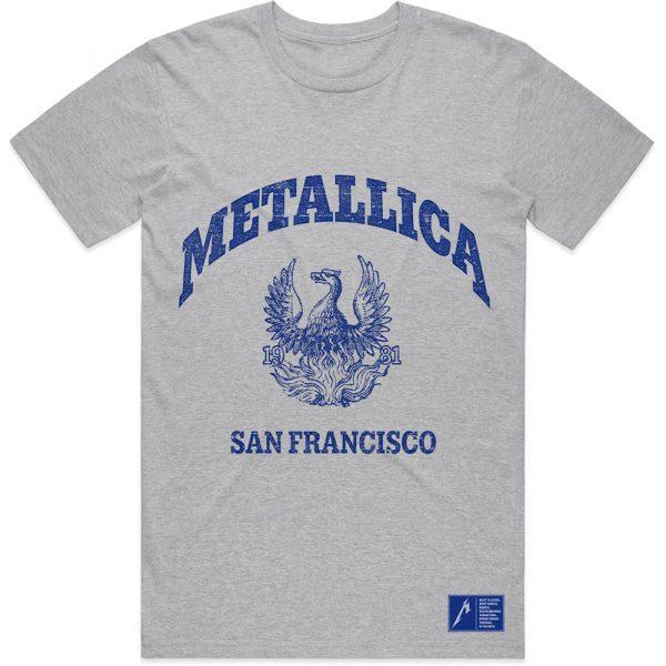 Metallica Mens T-Shirt: College Crest (XX-Large)