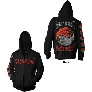 Metallica Mens Zipped Hoodie: Yin Yang (Back Print) (XX-Large)