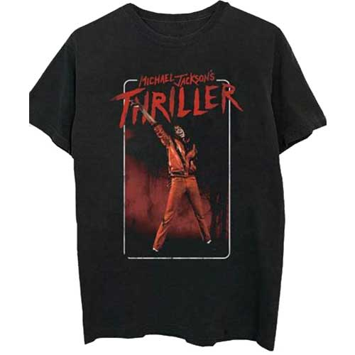 Michael Jackson Mens T-Shirt: Thriller White Red Suit (XX-Large)