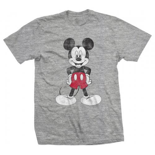 Disney Mens T-Shirt: Mickey Mouse Pose (XX-Large)