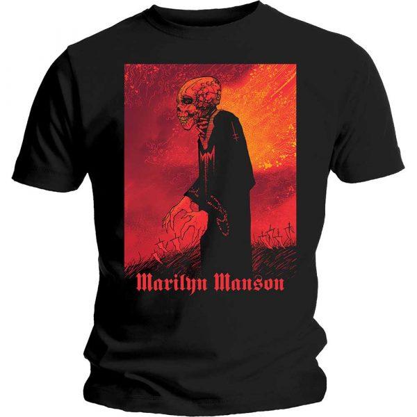 Marilyn Manson Mens T-Shirt: Mad Monk (XX-Large)