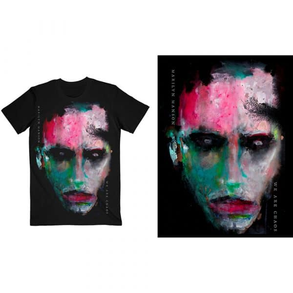Marilyn Manson Mens T-Shirt: We Are Chaos Cover (XX-Large)