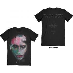 Marilyn Manson Mens T-Shirt: We Are Chaos (Back Print) (XX-Large)