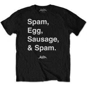 Monty Python Mens T-Shirt: Spam (XX-Large)
