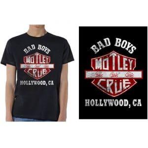Motley Crue Mens T-Shirt: Bad Boys Shield (XX-Large)