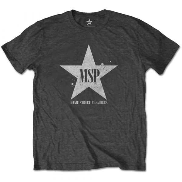 Manic Street Preachers Mens T-Shirt: Classic Distressed Star (XX-Large)