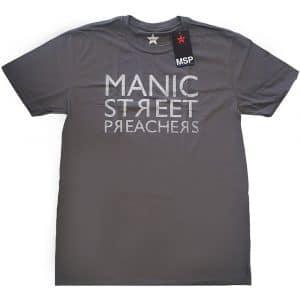 Manic Street Preachers Mens T-Shirt: Reversed Logo (XX-Large)