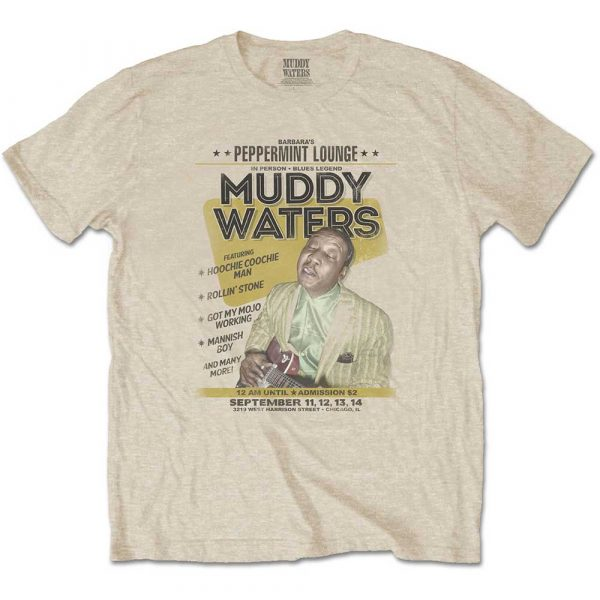 Muddy Waters Mens T-Shirt: Peppermint Lounge (XX-Large)