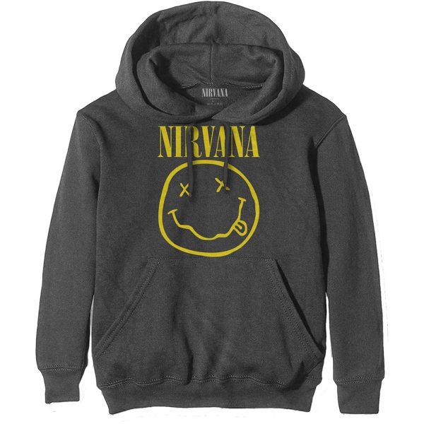 Nirvana Mens Hoodie: Yellow Smiley (XX-Large)