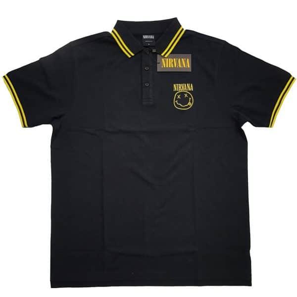 Nirvana Mens Polo Shirt: Smiley (XX-Large)