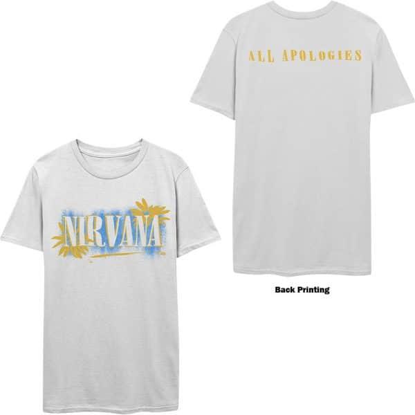 Nirvana Mens T-Shirt: All Apologies (Back Print) (XX-Large)