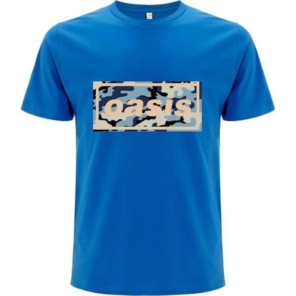 Oasis Mens T-Shirt: Camo Logo (XX-Large)
