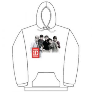 One Direction Ladies Pullover Hoodie: Photo Group (Large)