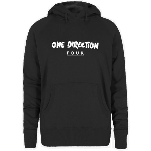 One Direction Ladies Pullover Hoodie: Four (X-Large)
