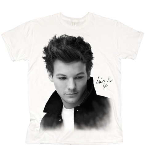 One Direction Ladies T-Shirt: Louis Solo B&W (Skinny Fit) (X-Large)