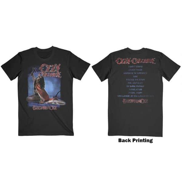 Ozzy Osbourne Mens T-Shirt: Blizzard of Ozz Tracklist (Back Print) (XX-Large)