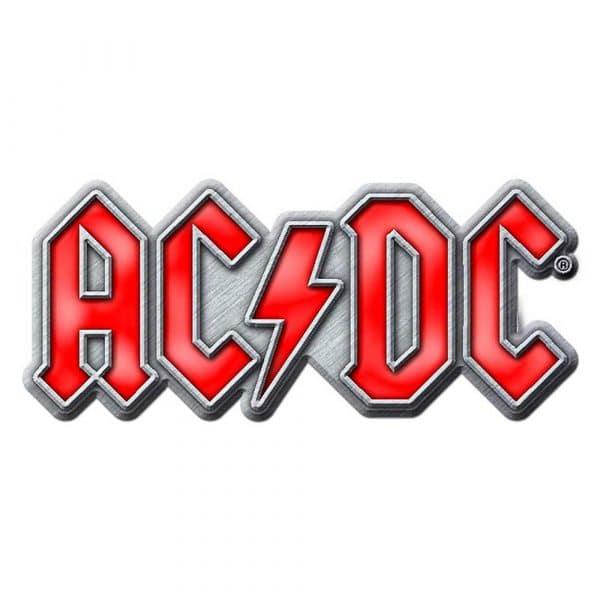 AC/DC Pin Badge: Red Logo