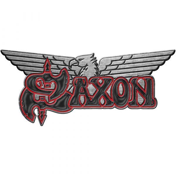 Saxon Pin Badge: Logo/Eagle