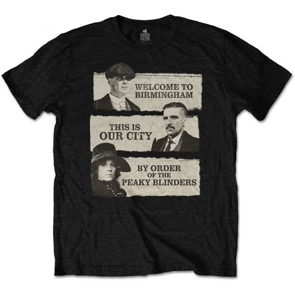 Peaky Blinders Mens T-Shirt: This Is Our City (XX-Large)