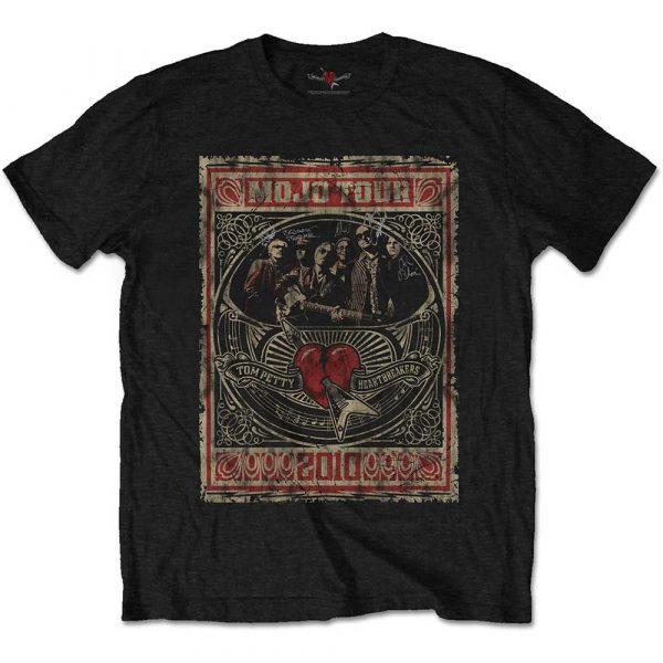 Tom Petty & The Heartbreakers Mens T-Shirt: Mojo Tour (Soft Hand Inks) (XX-Large)